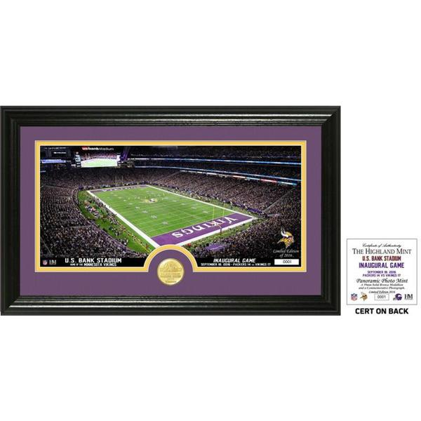 "Minnesota Vikings Inaugural Game ""Opening Kick Off"" Bronze Coin Pano Photo Mint"