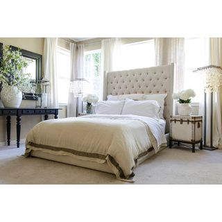 Chelsea Tall Panel Bed in Seashell