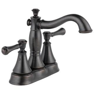 Delta Cassidy Two Handle Centerset Lavatory Faucet - Metal Pop-Up 2597LF-RBMPU Venetian Bronze
