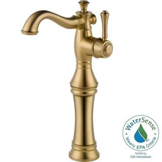 Delta Cassidy Single Hole 1-Handle Vessel Sink Bathroom Faucet in Champagne Bronze 797LF-CZ