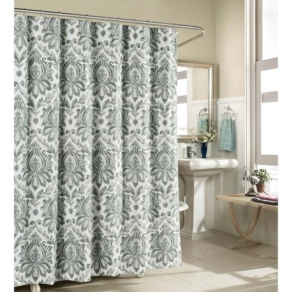 Creative Home Ideas Biltmore 100% Cotton Shower Curtain