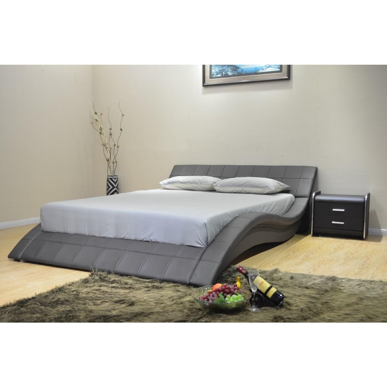 Greatime B1041-1 Eastern King Black Wave-like Shape Platform Bed | eBay