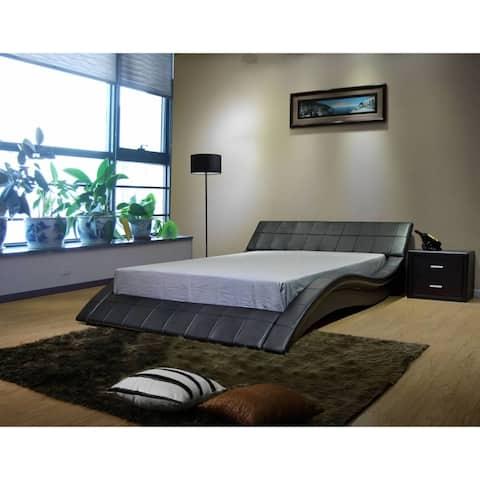 Greatime Wave-like Shape Upholstered Bed