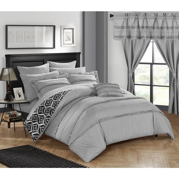 Chic Home 20-Piece Kyrie Room-In-A-Bag Grey Comforter Set