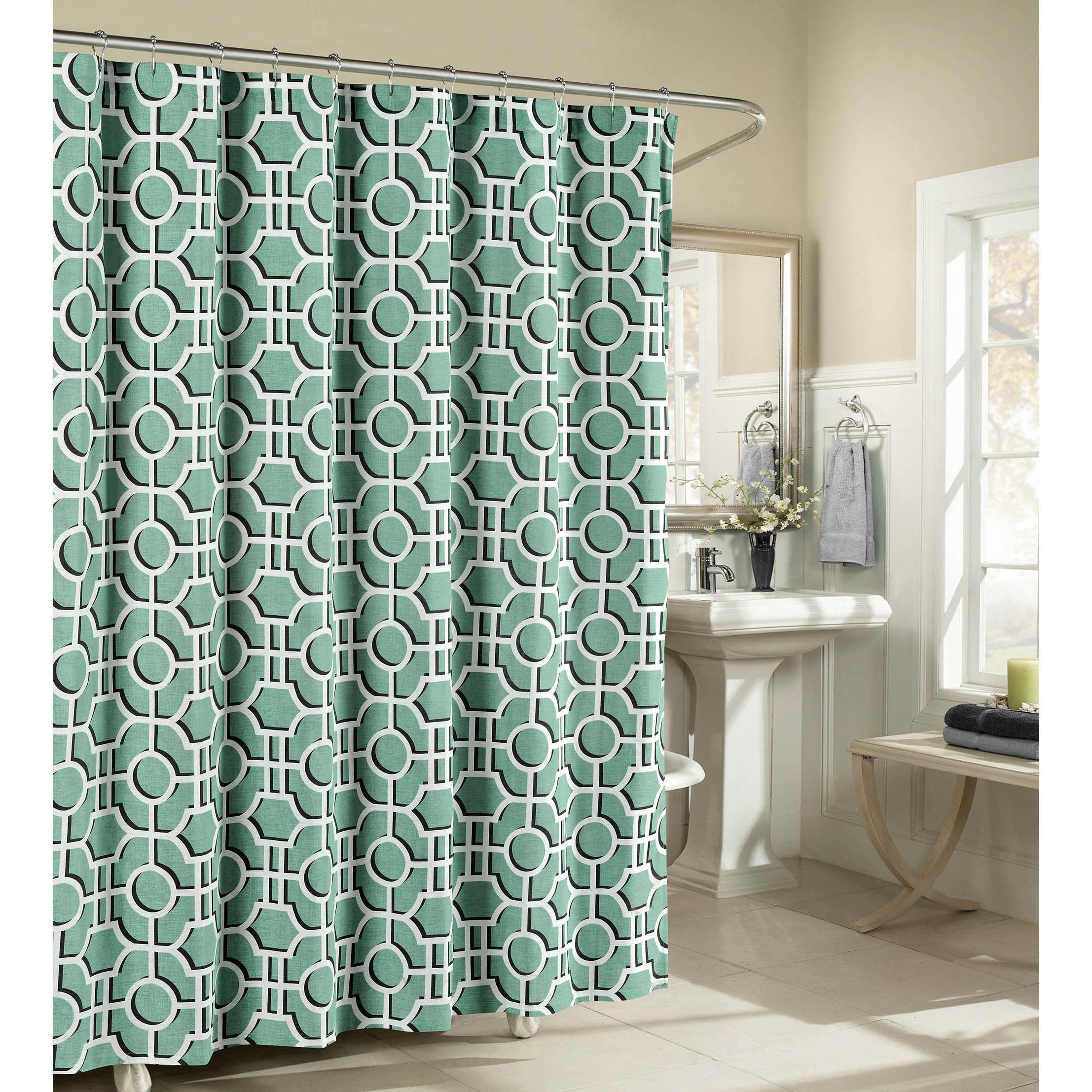 Creative Home Ideas Lenox 100 Cotton Luxury Fabric Shower Curtain
