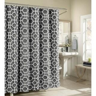 Creative Home Ideas Lenox 100% Cotton Luxury Fabric Shower Curtain