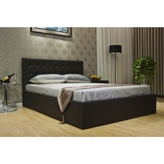 Greatime Leatherette Hidden Storage Bed