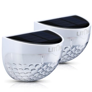 Solar-powered Waterproof Outdoor Semi-circle LED Scales Light (Pack of 2)