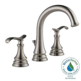 Delta Kinley 8 in. Widespread 2-Handle Bathroom Faucet in SpotShield Brushed Nickel 35730LF-SP