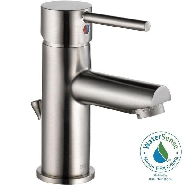 Delta Trinsic Single Hole 1 Handle Bathroom Faucet In Stainless 559lf Sspp Free Shipping Today