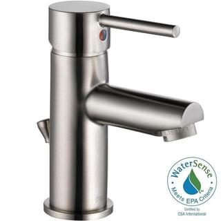 Delta Trinsic Single Hole 1-Handle Bathroom Faucet in Stainless 559LF-SSPP