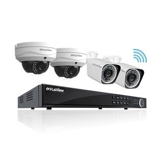 LaView 1080p 8-Channel Full HD IP Indoor/ Outdoor Wi-Fi Security 2TB NVR System, with Two 1080p Bullet, and Two Dome Cameras