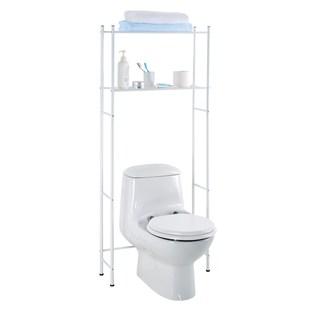 White Aluminum Over the Toilet Bathroom Organizer