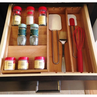 Bamboo Expandable Spice Organizer