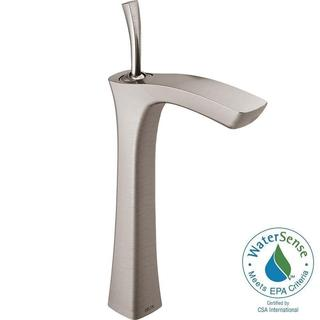 Delta Tesla Single Hole 1-Handle Vessel Bathroom Faucet in Stainless 752LF-SS