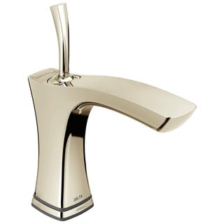 Delta Tesla Single Hole 1-Handle Touch2O Technology Bathroom Faucet in Polished Nickel 552TLF-PN