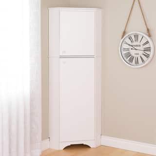 Shop Prepac Elite Winslow White Tall 1 Door Corner Storage