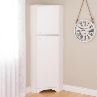 Prepac Elite Winslow Tall 2-Door Corner Storage Cabinet (2 options available)