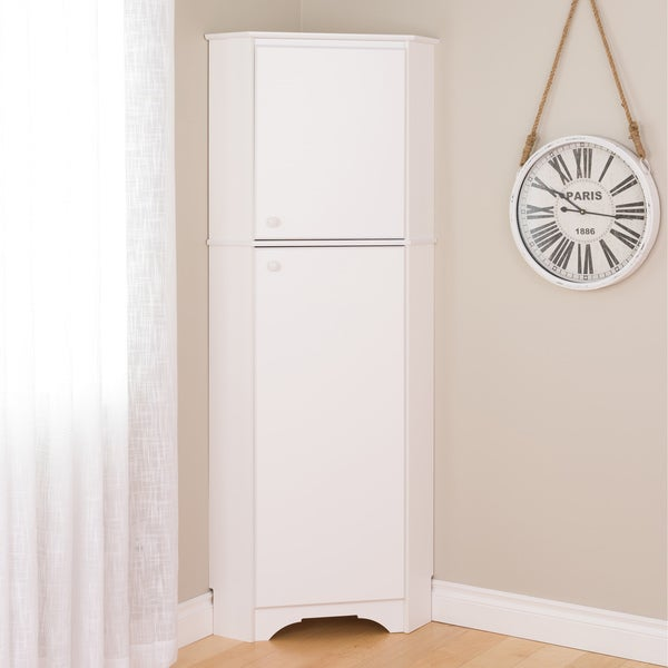 Awesome Prepac Elite Winslow Tall 2 Door Corner Storage Cabinet