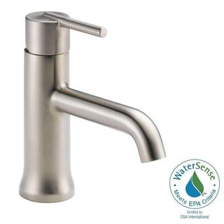 Delta Trinsic Single-Hole 1-Handle Mid-Arc Bathroom Faucet in Stainless w/ Pop-Up 559LF-SSTP