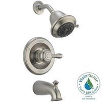 Delta Leland 1-Handle 3-Spray Tub and Shower Faucet Trim Kit in Stainless (Valve Not Included) T1447