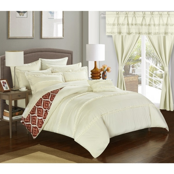 Chic Home 20-Piece Kyrie Room-In-A-Bag Beige Comforter Set