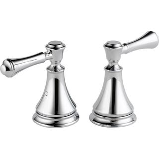 Delta Pair of Cassidy Metal Lever Handles for Roman Tub Faucet in Chrome H697