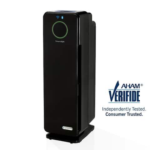 Germ Guardian CDAP4500BCA 22 4-in-1 WiFi & Bluetooth Smart Voice Control Air Purifier for Home, Smart AQM, UV-C