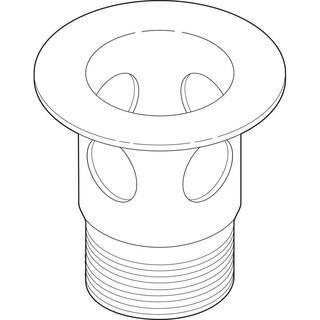 Delta 2-1/8 in. Metal Drain Flange for Bathroom Sinks in Pearl Nickel with Overflow Holes RP23060NN