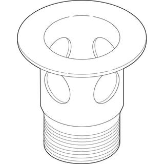 Delta 2-1/8 in. Metal Drain Flange for Bathroom Sinks in Stainless with Overflow Holes RP23060SS