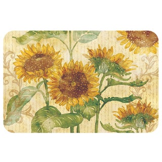 Counterart Sunflowers Reversible Plastic Wipe Clean Placemats (Set of 4)
