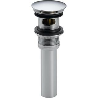 Delta Push Pop-Up Drain Assembly in Chrome with Overflow Holes 72173