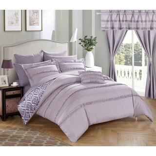 Oliver & James Viola Lavender 20-piece Room in a Bag Comforter Set