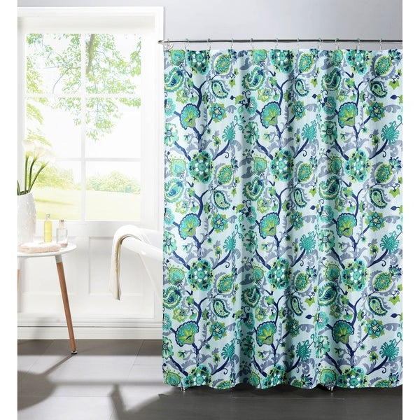 Creative Home Ideas Diamond Weave Textured 13-Piece Shower Curtain with Metal Roller Hooks in Henna