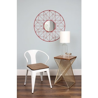Kate and Laurel Elita Brown/Silver Wood/Metal Accent Table