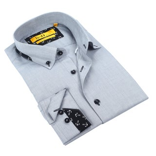 Brio Men's Light Grey Dress Shirt