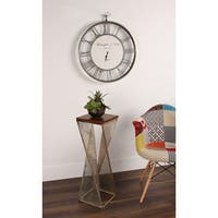 Kate and Laurel Elita Wood and Metal Accent Side Table