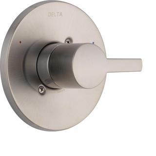 Delta Compel Monitor 14 Series 1-Handle Temperature Control Valve Trim Kit in Stainless (Valve Not Included) T14061-SS