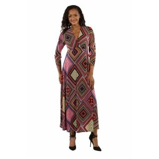 24/7 Comfort Apparel Women's Feel Great, Look Gorgeous in this Showstopper Maxi Dress