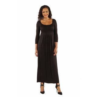 24/7 Comfort Apparel Women's On Trend, Figure Flattering Maxi Dress|https://ak1.ostkcdn.com/images/products/12834122/P19600284.jpg?impolicy=medium