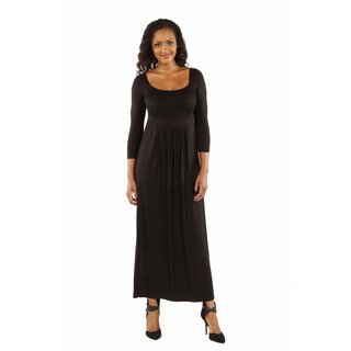 24/7 Comfort Apparel Women's On Trend, Figure Flattering Maxi Dress