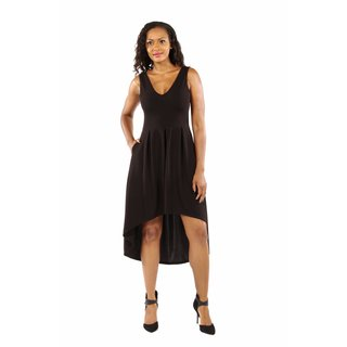 Enchanting Black Princess High Low Dress