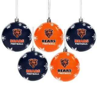 Chicago Bears NFL 5 Pack Shatterproof Ball Ornaments