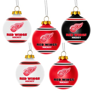 Detroit Red Wings NHL 5 Shatterproof Ball Ornaments