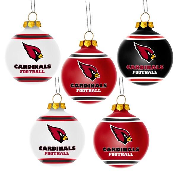 Arizona Cardinals NFL 5 Shatterproof Ball Ornaments