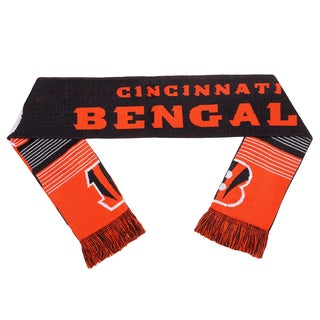 Cincinnati Bengals NFL Reversible Split Logo Scarf