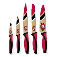 San Francisco 49ers NFL 5 Piece Kitchen Knife Set