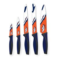 Denver Broncos NFL 5 Piece Kitchen Knife Set