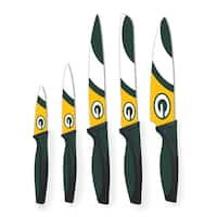 Green Bay Packers NFL 5 Piece Kitchen Knife Set