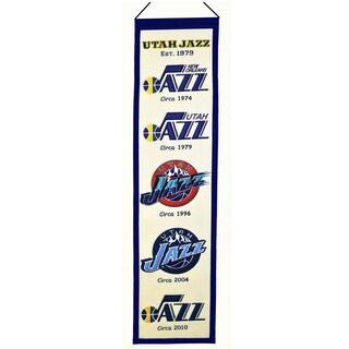 Utah Jazz NBA Heritage Banner